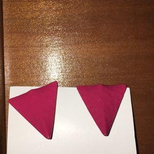 VtG 80s triangle pink earrings pierced